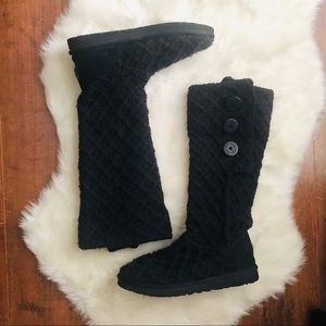 Ugg knitted black tall boots